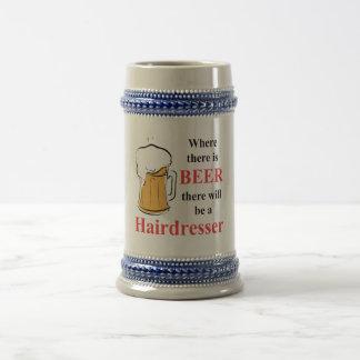 Donde hay cerveza - peluquero tazas