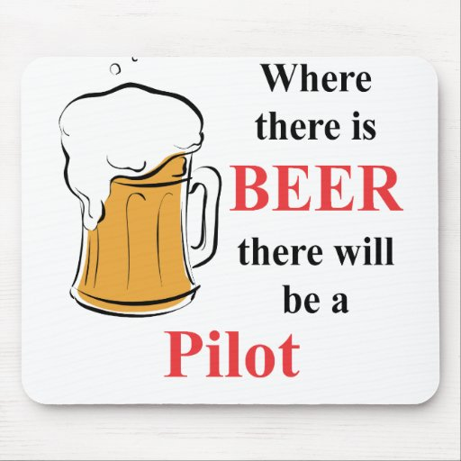 Donde hay cerveza - piloto mouse pad