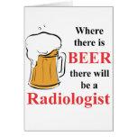 Donde hay cerveza - radiólogo felicitaciones