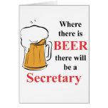Donde hay cerveza - secretaria tarjetón