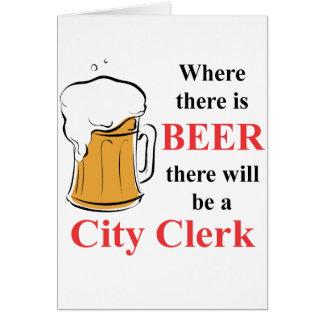 Donde hay cerveza - secretario municipal tarjeta