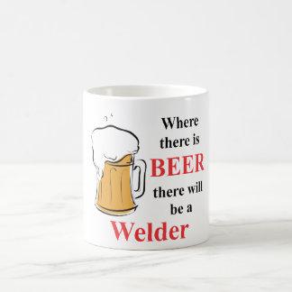 Donde hay cerveza - soldador taza de café