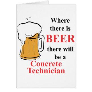 Donde hay cerveza - técnico concreto tarjeta pequeña