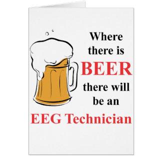Donde hay cerveza - técnico de EEG Tarjeta Pequeña