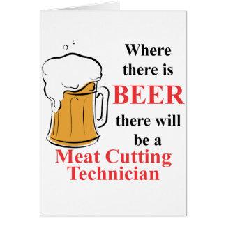 Donde hay cerveza - técnico del corte de la carne tarjeta pequeña