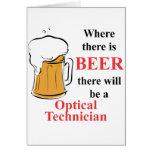 Donde hay cerveza - técnico óptico tarjetas