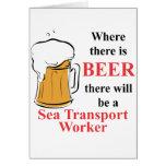 Donde hay cerveza - trabajador de transporte de ma tarjeton