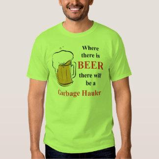 Donde hay cerveza - transportista de la basura poleras