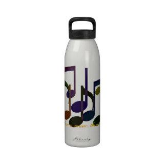 Donde hay música botellas de agua reutilizables