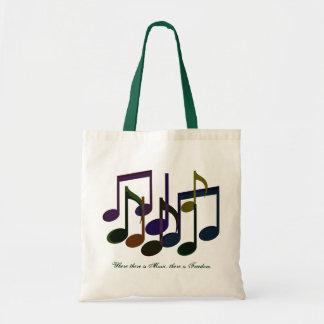Donde hay música bolsa tela barata