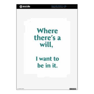 Donde hay una voluntad… skins para iPad 2