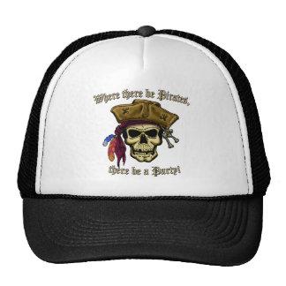 Donde haya piratas gorros bordados