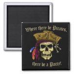 Donde haya piratas imán de nevera