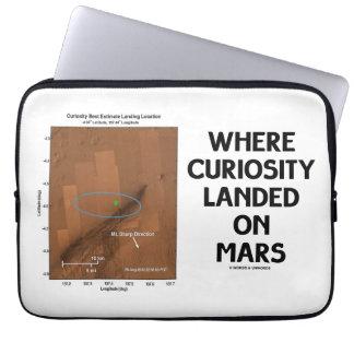 Donde la curiosidad aterrizó en Marte (la Funda Computadora
