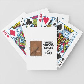 Donde la curiosidad aterrizó en Marte la superfic Baraja Cartas De Poker
