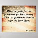 Donde la gente teme al gobierno posters