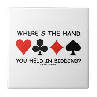 ¿Dónde la mano usted se lleva a cabo en hacer una Azulejo Cuadrado Pequeño