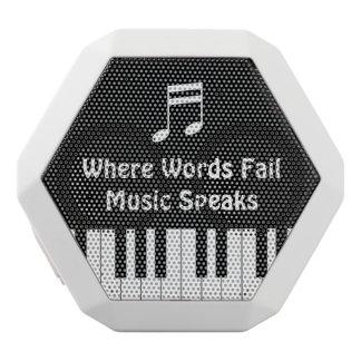 Donde las palabras fallan, la música habla el altavoces bluetooth blancos boombot REX