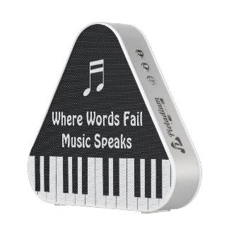 Donde las palabras fallan, la música habla el altavoz bluetooth