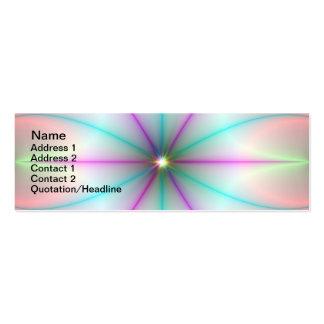 Donde las trayectorias cruzan la tarjeta tarjeta de visita