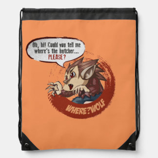 ¿Dónde? Lobo - mochila sobrenatural del lazo