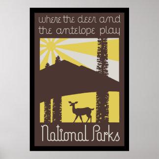 donde los ciervos y el antílope juegan impresiones