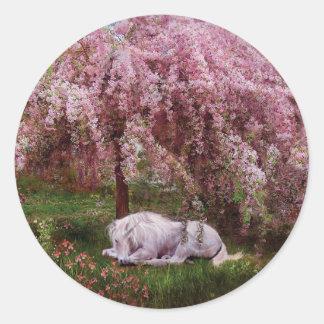 Donde los unicornios soñan al pegatina