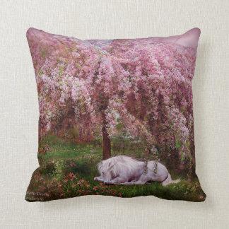 Donde los unicornios soñan la almohada del diseñad