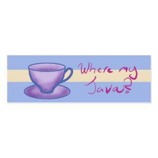 ¿dónde mi Java? - Señal Tarjeta De Negocio
