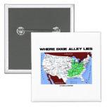 Donde miente el callejón de Dixie (el mapa de Esta Pins
