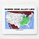 Donde miente el callejón de Dixie (el mapa de Esta Tapetes De Ratones