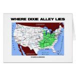 Donde miente el callejón de Dixie (el mapa de Esta Tarjetas