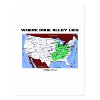Donde miente el callejón de Dixie (el mapa de Esta Tarjetas Postales