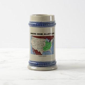 Donde miente el callejón de Dixie (el mapa de Esta Jarra De Cerveza