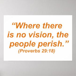 Donde no hay visión, la gente fallece póster