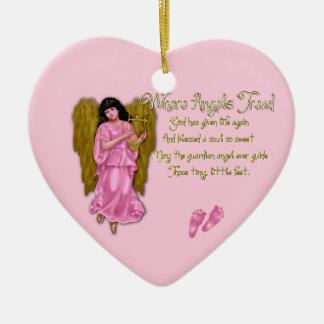 Donde ornamento del corazón de Tread_Birth de los  Adorno Para Reyes