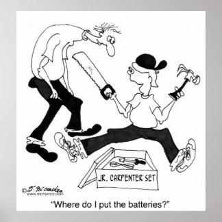 ¿Dónde pongo las baterías Poster
