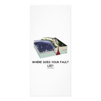 ¿Dónde su falta miente? (Humor de la geología) Lona Personalizada