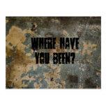 ¿Dónde usted ha estado? Tarjetas Postales
