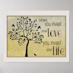 Donde usted invierte su amor/invierta la vida con  poster