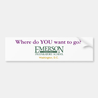 ¿Dónde USTED quiere ir? Etiqueta De Parachoque