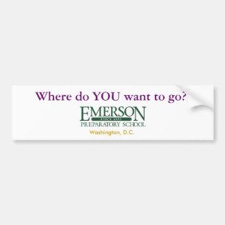 ¿Dónde USTED quiere ir? Pegatina Para Auto