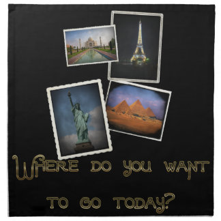 ¿Dónde usted quiere ir? Servilleta De Papel