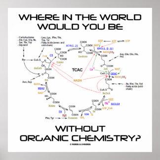 ¿Dónde usted sin química orgánica? Impresiones