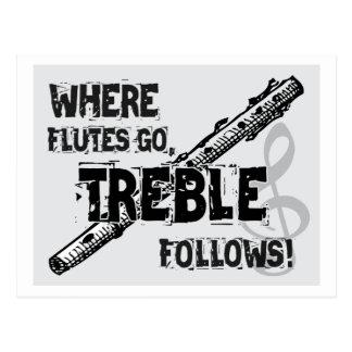 Donde van las flautas - el triple sigue postales