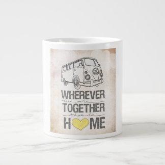 Dondequiera que seamos juntos las series transport taza de café grande