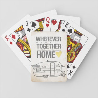 Dondequiera que seamos juntos remolque del vintage barajas de cartas