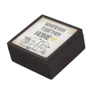 Dondequiera que seamos juntos remolque del vintage caja de joyas de calidad