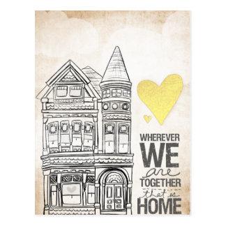 Dondequiera que seamos juntos tarjetas postales