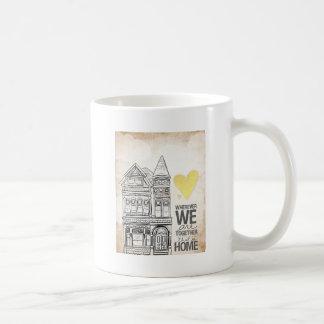 Dondequiera que seamos juntos tazas de café